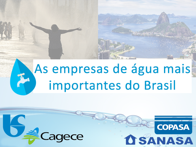 Empresas de agua mais importantes do Brasil