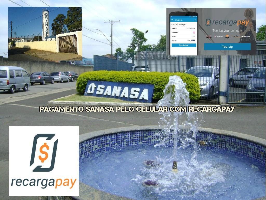 Pagamento Sanasa pelo celular com Recargapay
