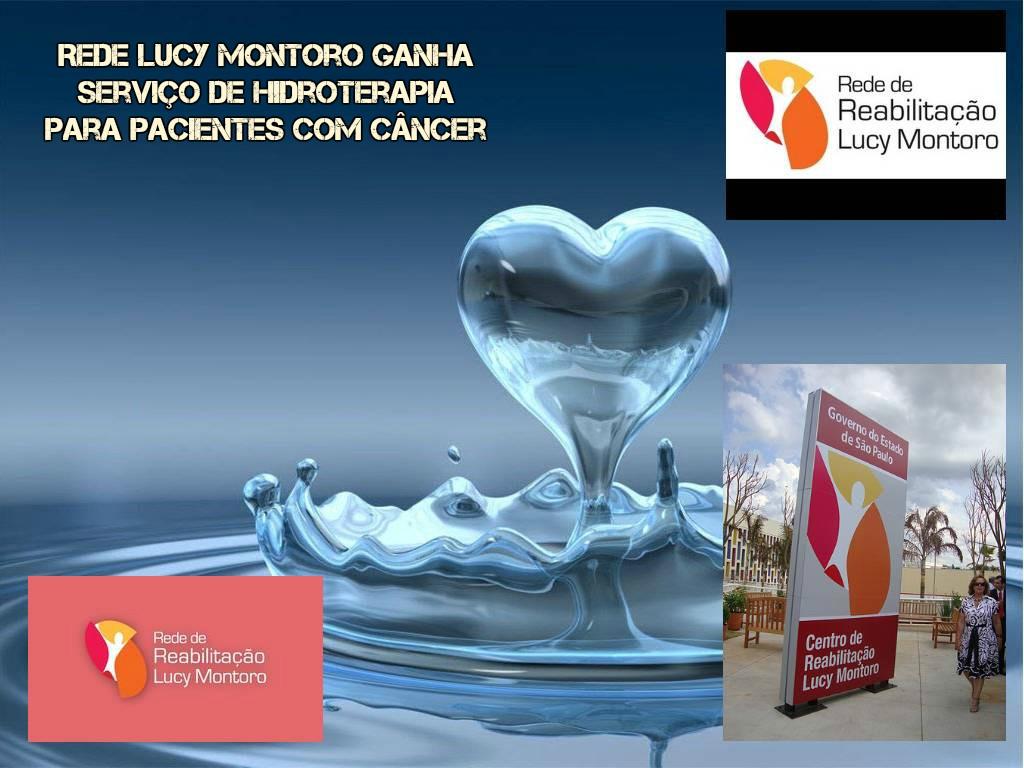 Rede Lucy Montoro ganha serviço de hidroterapia para pacientes com câncer