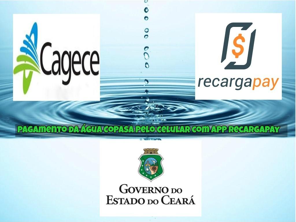 Pagamento da água pelo celular com app Recargapay