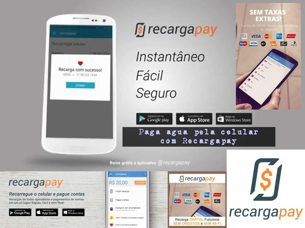 Paga àgua pela celular com Recargapay