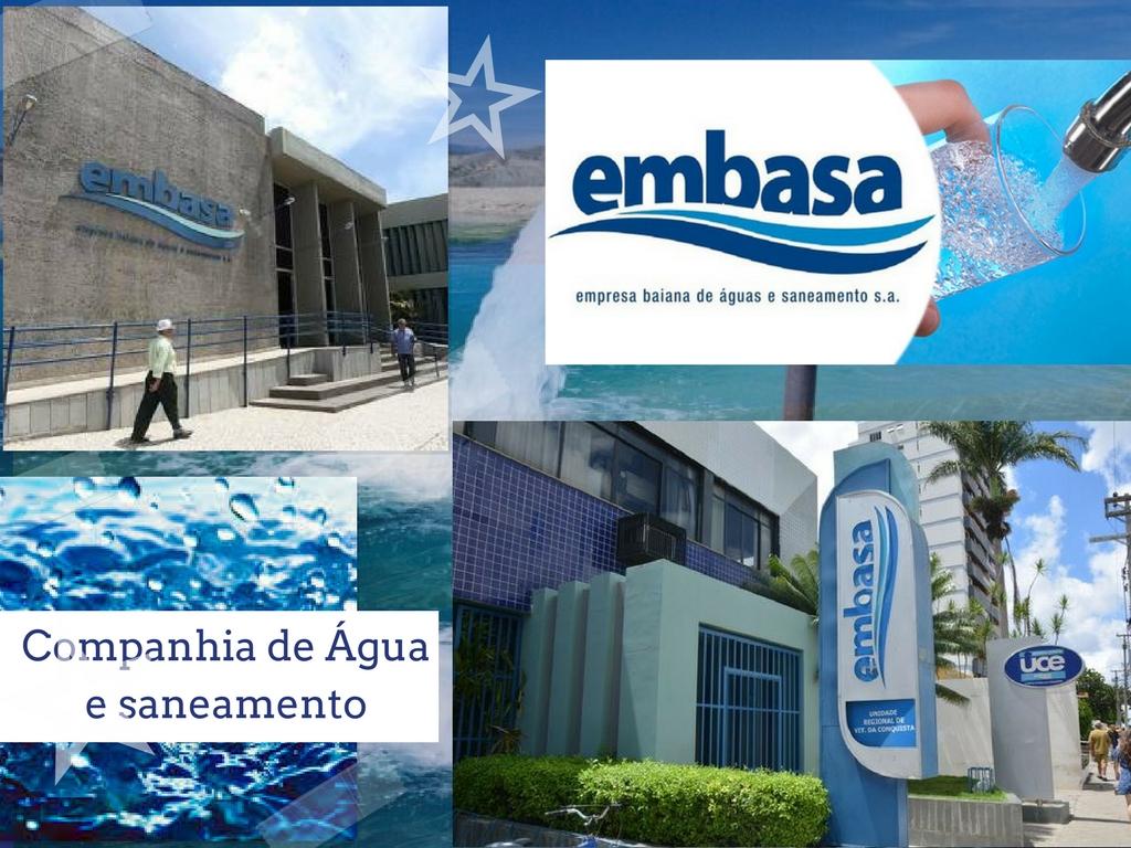 Alcance dos servicos da empresa de água Embasa de Salvador da Bahia
