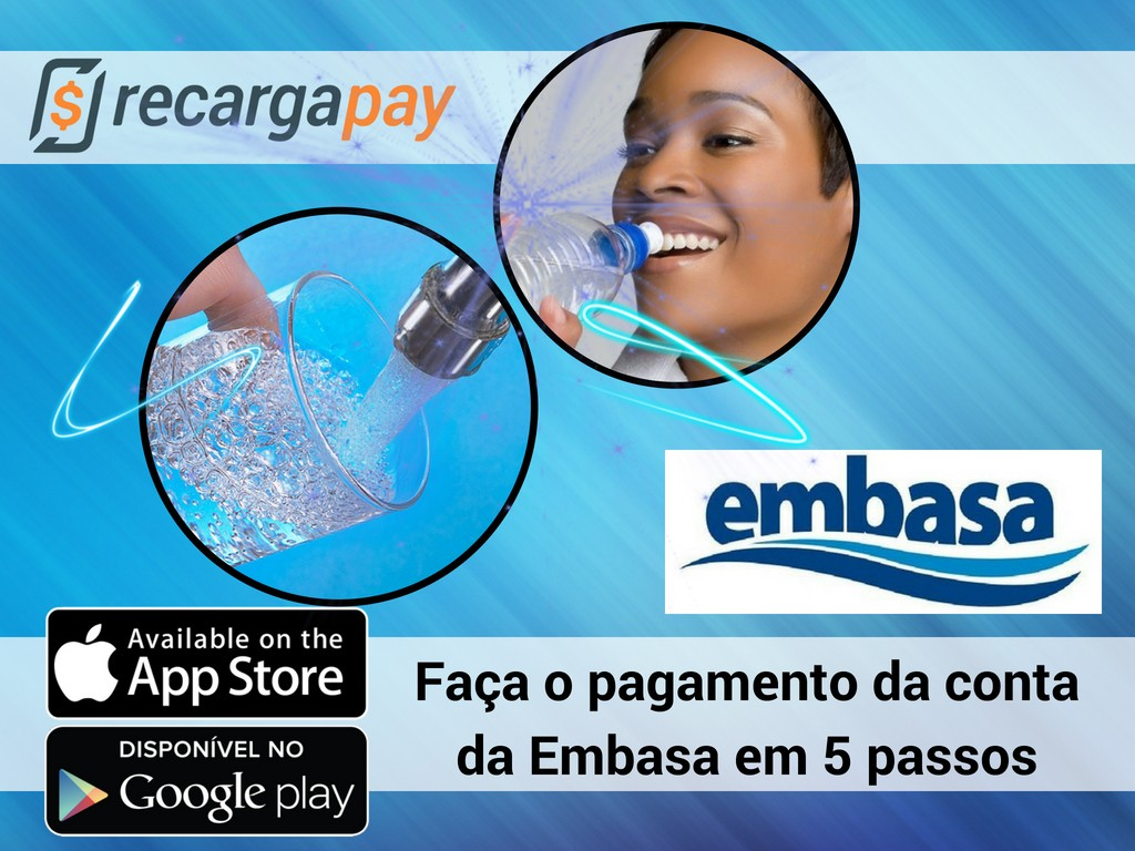 Paga conta Embasa com Recargapay