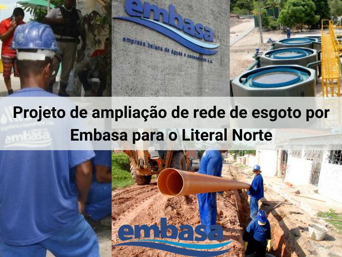 Embasa inicia projeto de ampliação de rede de esgoto no Literal Norte