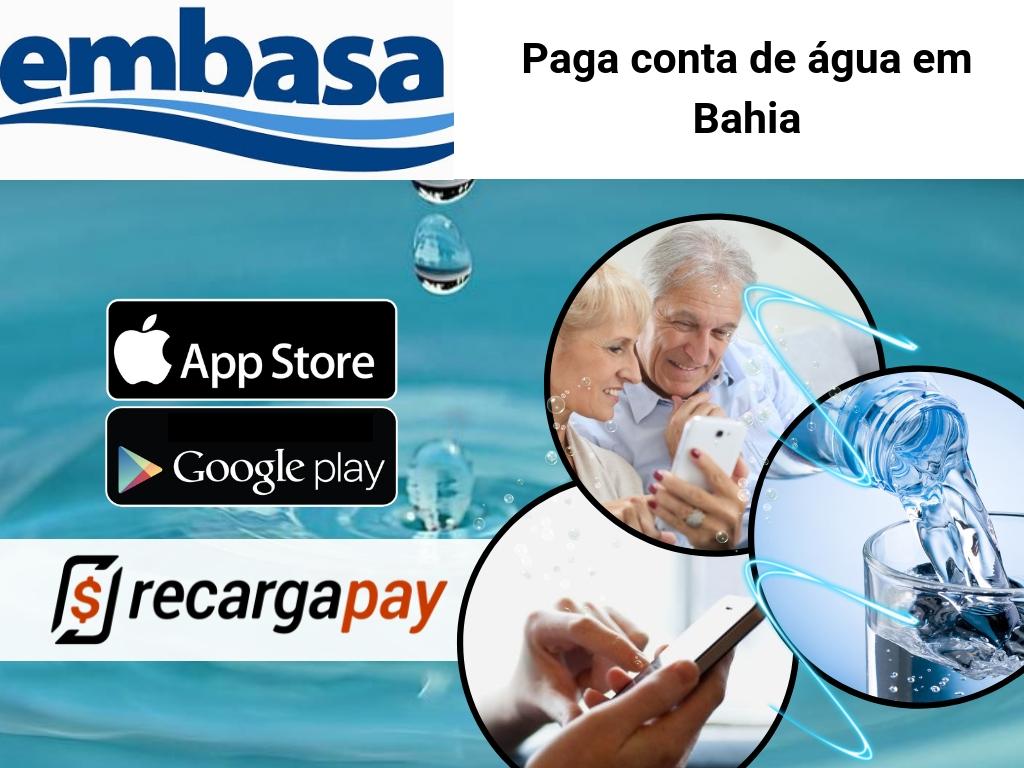 Pague sua conta de água Embasa com Recargapay