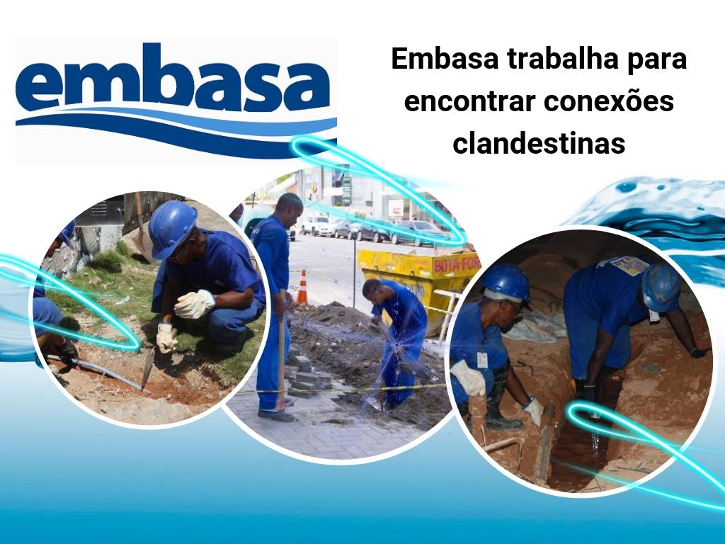 Embasa continua lutando contra ligações de água clandestinas