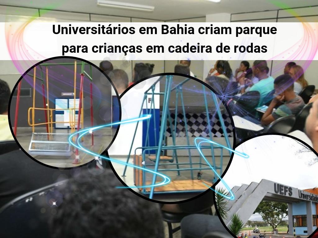 Universitários em Bahia criam parque para crianças em cadeira de rodas