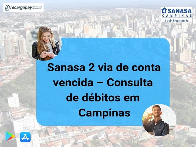 Sanasa 2 via de conta vencida - Consulta de débitos en Campinas