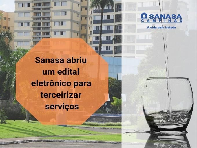 Sanasa abriu um edital eletrônico para terceirizar serviços