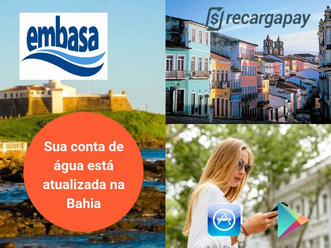Bahia já conta com os serviços do Recargapay para o pagamento da Embasa 2 via