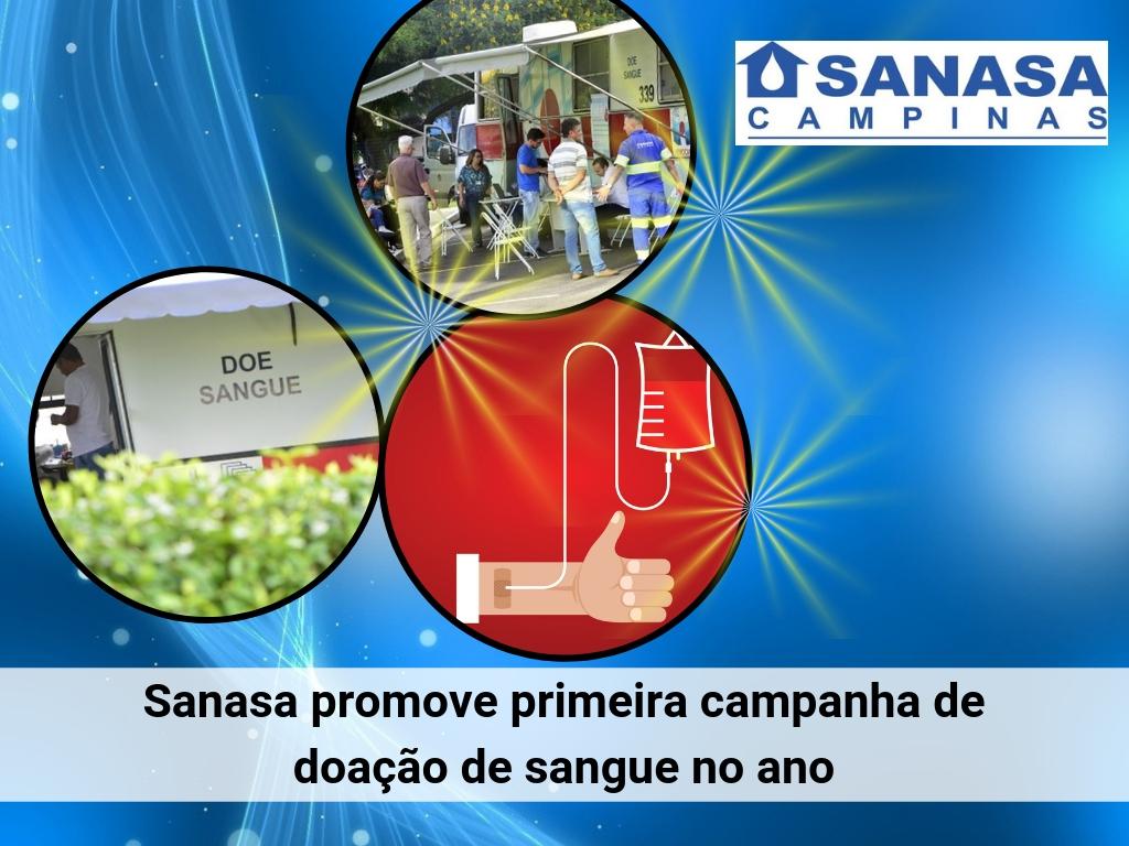 Sanasa promove campanha de doação de sangue