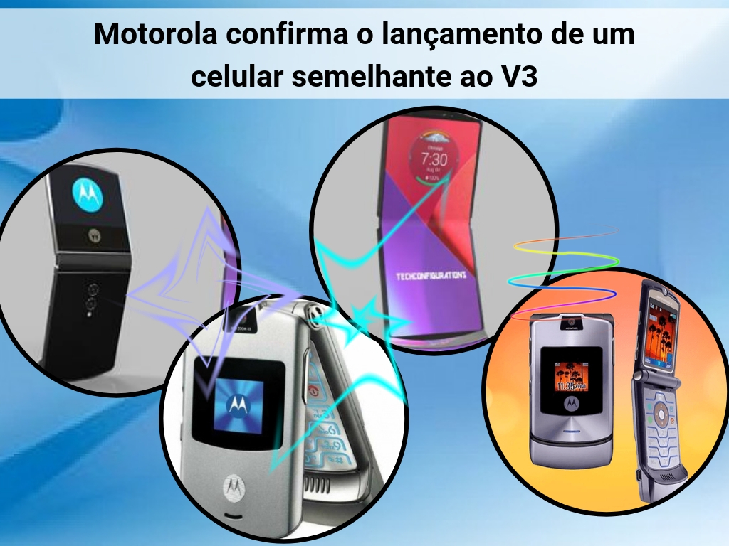 Novo celular Motorola semelhante ao V3
