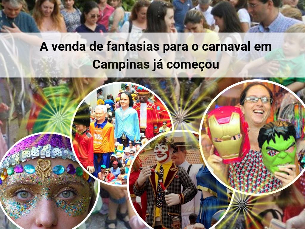 Venda de fantasias para o carnaval em Campinas