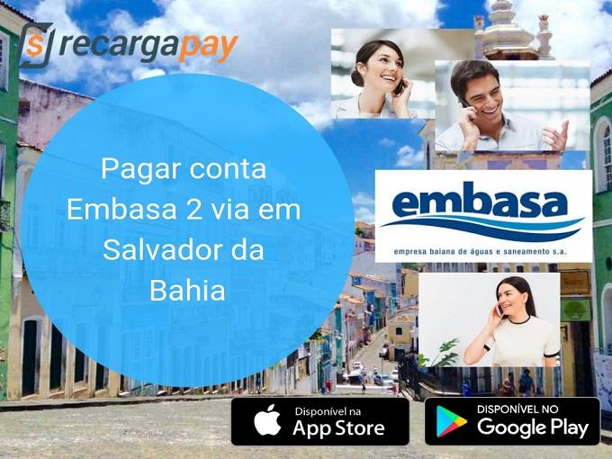 Pagar conta Embasa 2 via em Salvador da Bahia