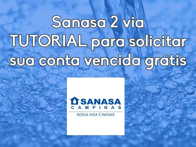 Sanasa 2 via - TUTORIAL para solicitar sua conta vencida grátis