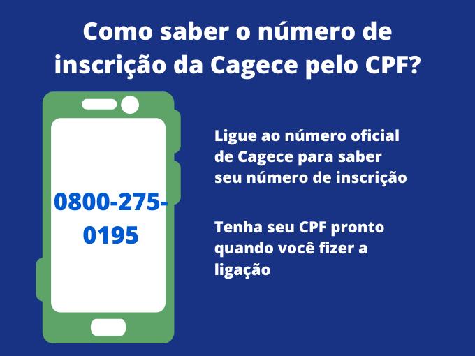 Como saber o número de inscrição da Cagece pelo CPF_