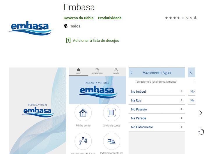 Embasa aplicativo oficial