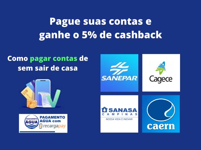Pague suas contas e ganhe o 5% de cashback