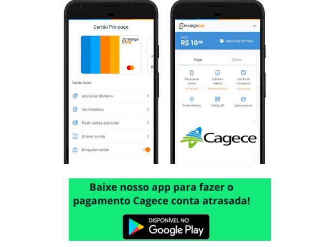 Baixe nosso app para pagar cagece