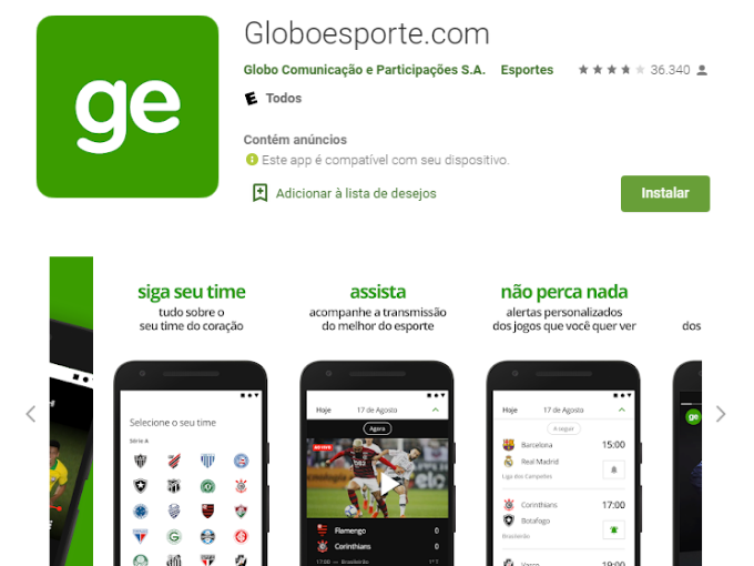 App Globo Esporte