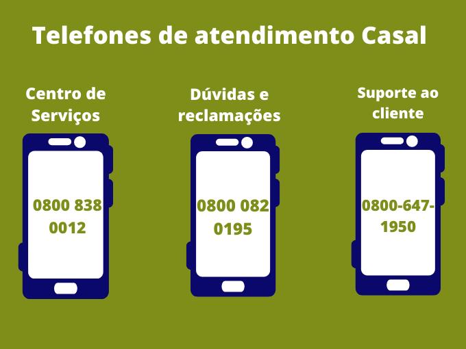 Telefones de atendimento Casal