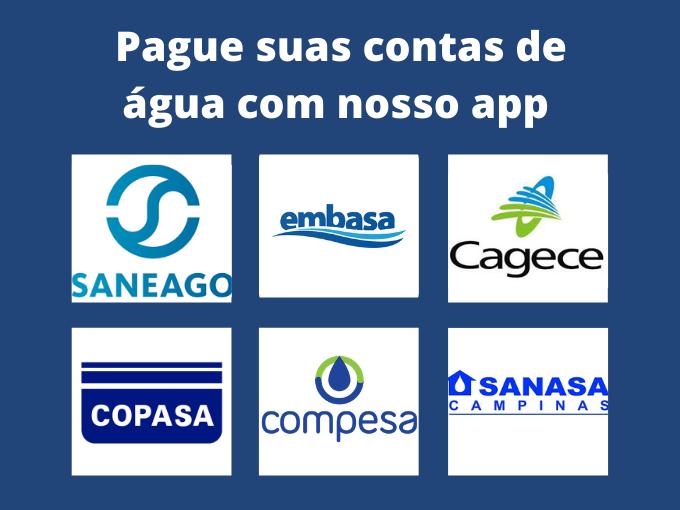 Pague suas contas de água com nosso app