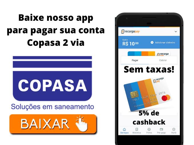 Baixe nosso app para pagar sua conta Copasa 2 via