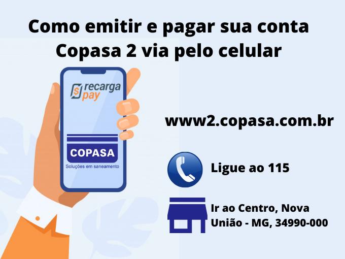 Como emitir e pagar sua conta Copasa 2 via pelo celular