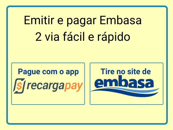 Emitir e pagar Embasa 2 via fácil e rápido