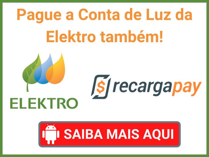 PAGAR CONTA DA ELEKTRO COM RECARGAPAY