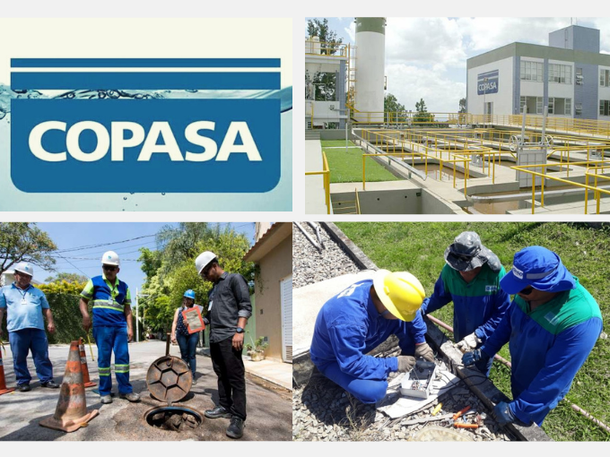 COPASA, empresa de serviços de água e saneamento em MG