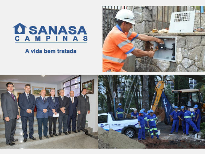 SANASA, Sabesp, empresa de serviços de água e saneamento em Campinas
